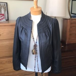 Doma brown  leather jacket 3/4 sleeve